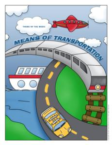 Transportation Theme And Activities Educatall