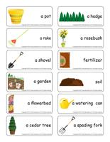 Word flashcards-The tree nursery