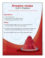 Creative recipe-Jell O Bubbles