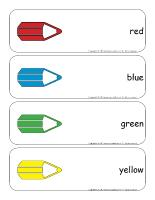 Giant word flashcards-Colors