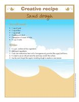 Creative recipe-Sand dough