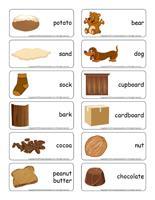 Word flashcards-Brown