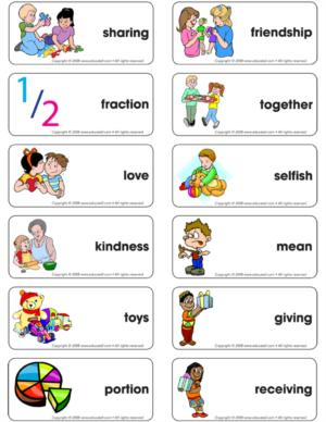 Sharing - Word flash card