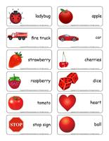 Word flashcards-Red