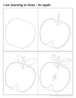 I am learning to draw-An apple
