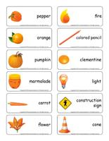 Word flashcards-Orange