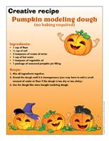 Creative recipe-Pumpkin modeling dough-no baking