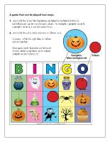 Game Bingo Halloween-New version