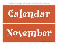 Giant visual calendar-November
