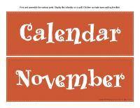 Giant visual calendar-November