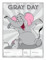 Perpetual calendar Gray-Day