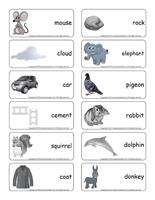 Word flashcards-Gray