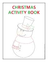 Activity sheets Christmas activity book 2013