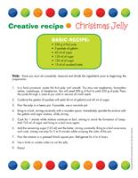Creative recipe Christmas jelly