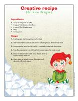 Creative recipe-Elf Rice Krispies