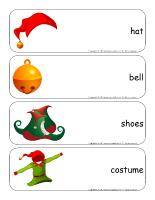 Giant word flashcards-The elves' workshop