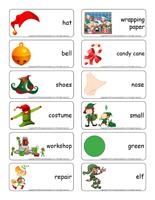 Word flashcards-The elves' workshop