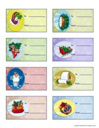 Christmas craft - labels