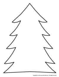 Christmas craft - christmas tree shape