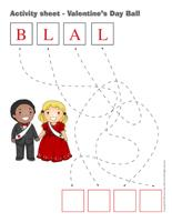 Activity sheets-Valentine?s Day Ball
