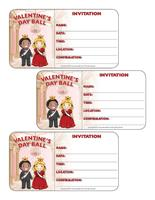 Valentine's Day-Ball invitations