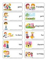 Word flashcards-Friendship