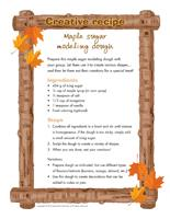 Creative recipe-Maple sugar modeling dough