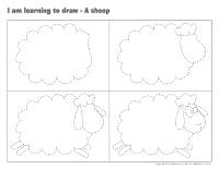 I am learning to draw-A sheep