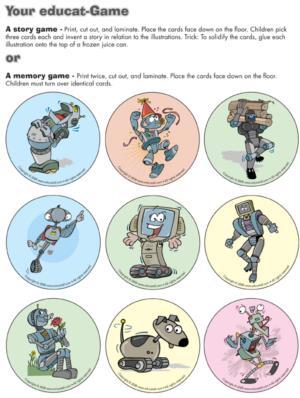 Robots - memomry game