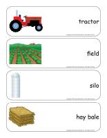 Giant word flashcards-Agriculture