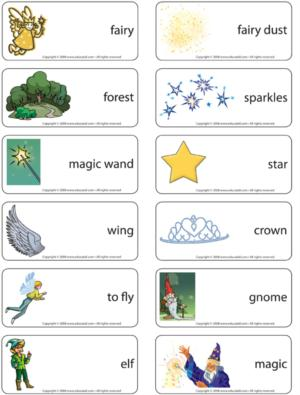 Fairies - Word flash card game