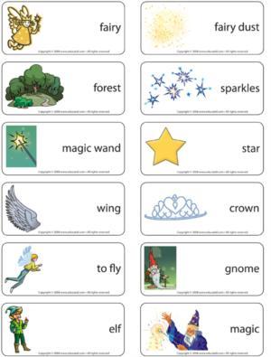 Fairies - Word flash card game