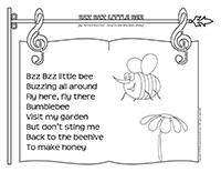Songs & rhymes Bzz Bzz Little-Bees