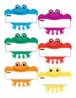 Name tags-Frogs
