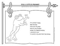 Songs & rhymes-I?m a little froggy