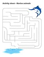 Activity-sheets-Marine animals