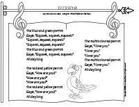 songs & rhymes-Parrots
