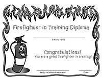 Diplomas-Firefighter in training