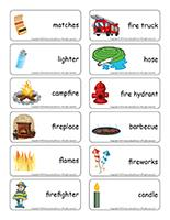 Word flashcards-Fire