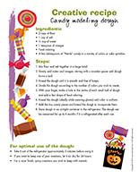 Creative recipe-Candy modeling dough