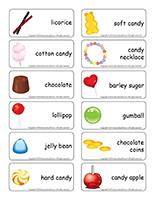 Word flashcards-Candy