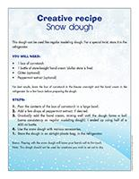 Creative recipe-Snow dough