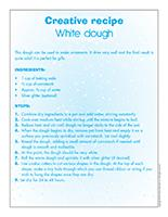 Creative recipe-White dough