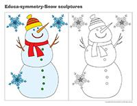 Educa-symmetry-Snow sculptures