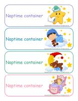 Labels-Naptime containers