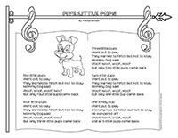 Songs & rhymes-Five little pups