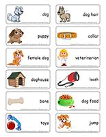 Word flashcards-Dogs