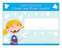 Certificate-I lost my first tooth