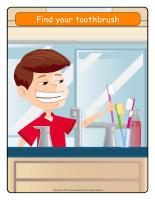Illustrated routine-Toothbrushing