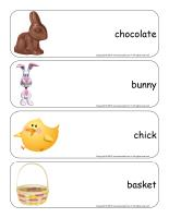 Giant word flashcards-Easter
